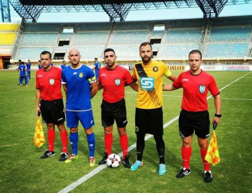 Ο κ. Σταυρουλάκης Γεώργιος σε αγώνα Football League Νέων