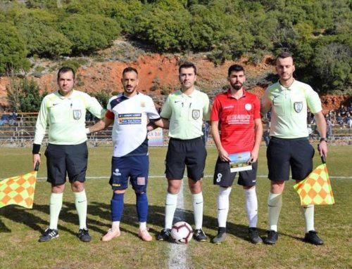 Ο κ. Σταυρουλάκης Ραφαήλ σε αγώνα Football League Νέων